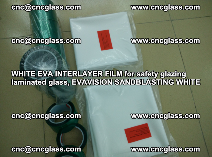 WHITE EVA INTERLAYER FILM for safety glazing laminated glass, EVAVISION SANDBLASTING WHITE (68)