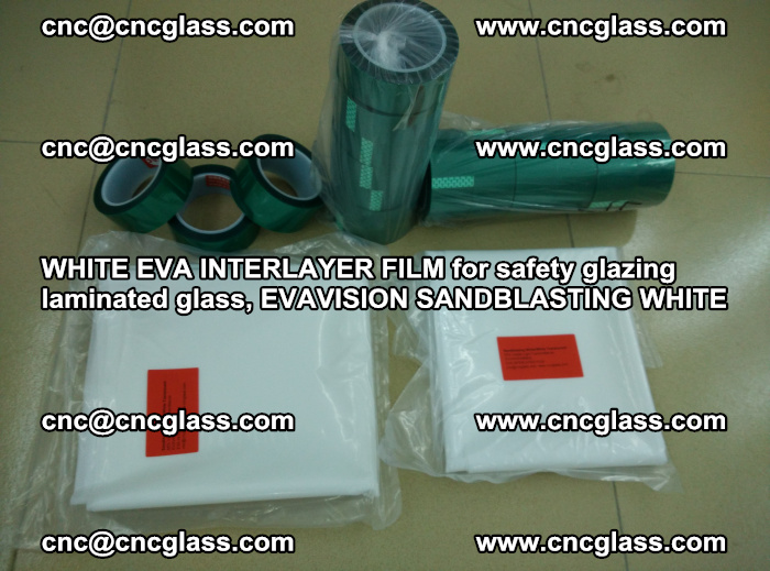 WHITE EVA INTERLAYER FILM for safety glazing laminated glass, EVAVISION SANDBLASTING WHITE (70)