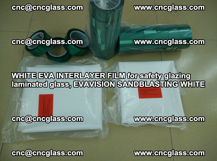 WHITE EVA INTERLAYER FILM for safety glazing laminated glass, EVAVISION SANDBLASTING WHITE (71)
