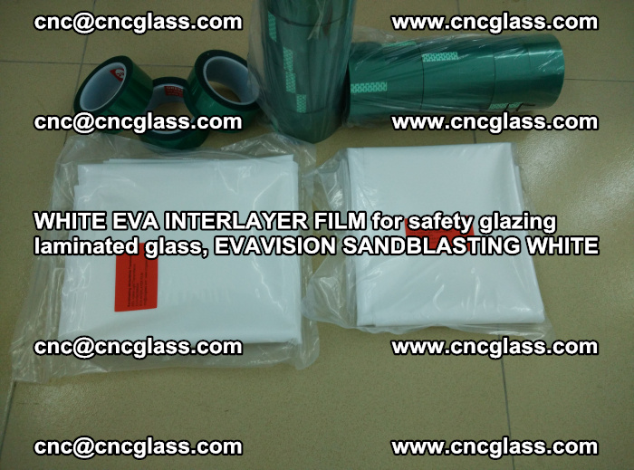 WHITE EVA INTERLAYER FILM for safety glazing laminated glass, EVAVISION SANDBLASTING WHITE (74)