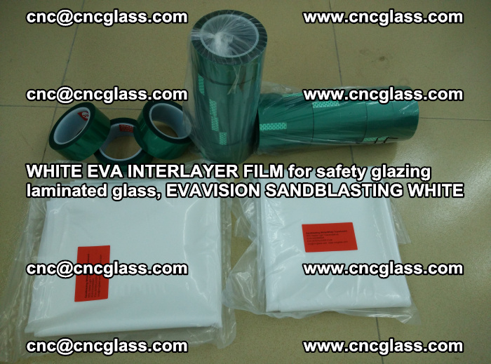 WHITE EVA INTERLAYER FILM for safety glazing laminated glass, EVAVISION SANDBLASTING WHITE (78)