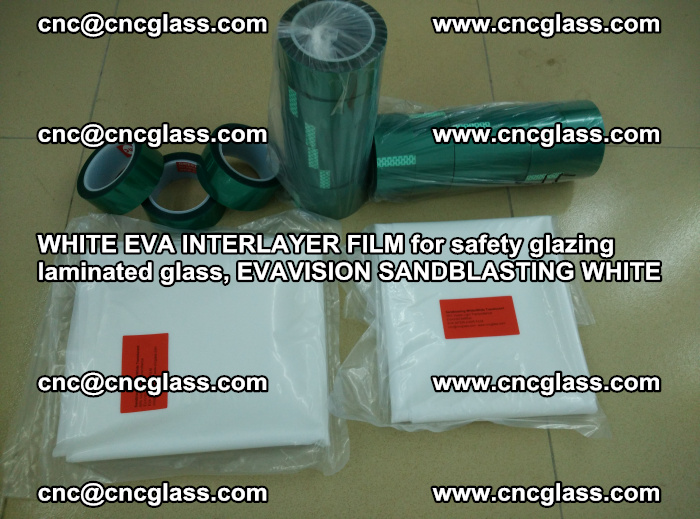 WHITE EVA INTERLAYER FILM for safety glazing laminated glass, EVAVISION SANDBLASTING WHITE (79)