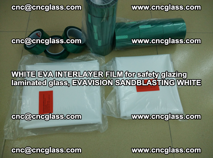 WHITE EVA INTERLAYER FILM for safety glazing laminated glass, EVAVISION SANDBLASTING WHITE (80)