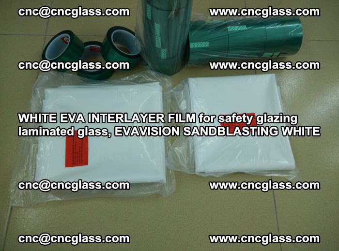 WHITE EVA INTERLAYER FILM for safety glazing laminated glass, EVAVISION SANDBLASTING WHITE (84)