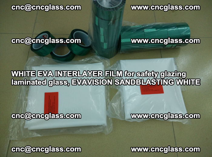 WHITE EVA INTERLAYER FILM for safety glazing laminated glass, EVAVISION SANDBLASTING WHITE (85)