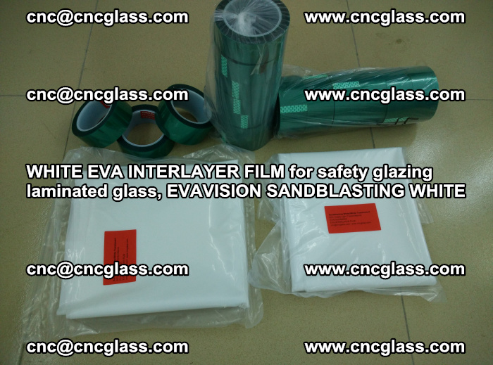 WHITE EVA INTERLAYER FILM for safety glazing laminated glass, EVAVISION SANDBLASTING WHITE (86)