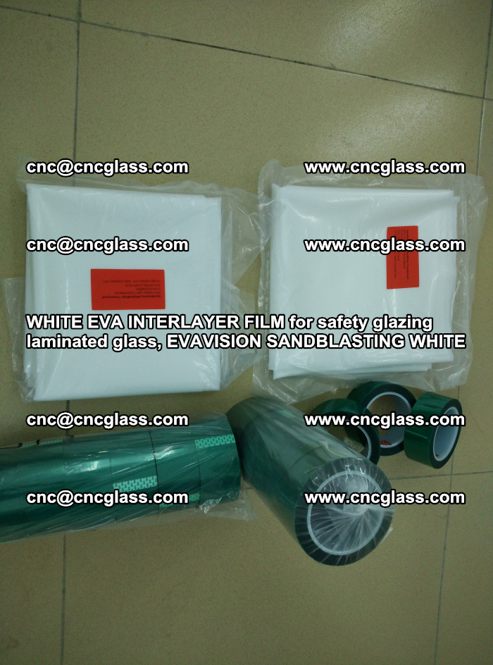 WHITE EVA INTERLAYER FILM for safety glazing laminated glass, EVAVISION SANDBLASTING WHITE (9)
