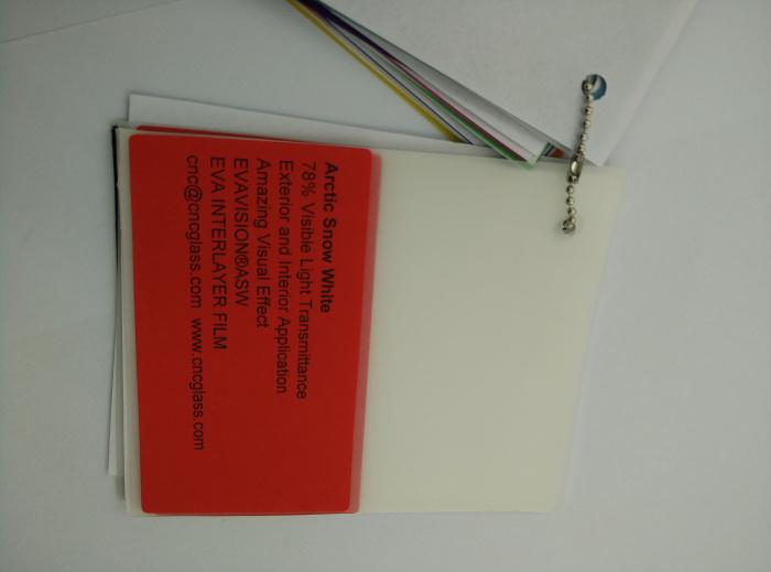 Arctic Snow White Ethylene Vinyl Acetate Copolymer EVA interlayer film for laminated glass safety glazing (23)