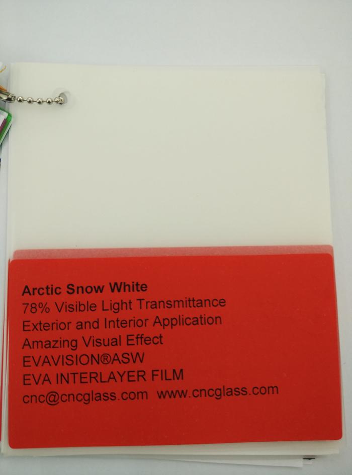 Arctic Snow White Ethylene Vinyl Acetate Copolymer EVA interlayer film for laminated glass safety glazing (36)