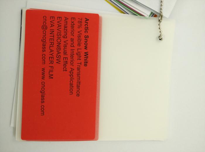 Arctic Snow White Ethylene Vinyl Acetate Copolymer EVA interlayer film for laminated glass safety glazing (4)