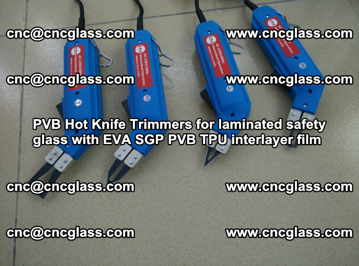 PVB Hot Knife Trimmers for laminated safety glass with EVA SGP PVB TPU interlayer film (101)