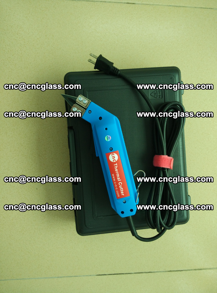 Thermal Knife trimmer for laminated glass edges cleaning (1)