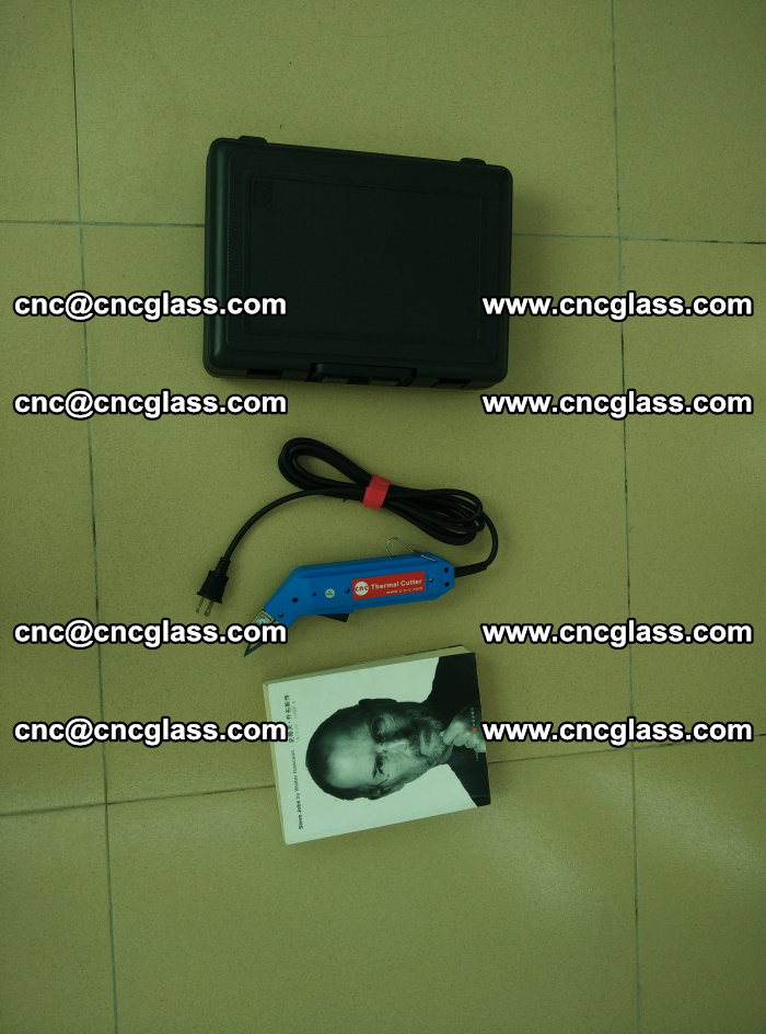 Thermal Knife trimmer for laminated glass edges cleaning (34)