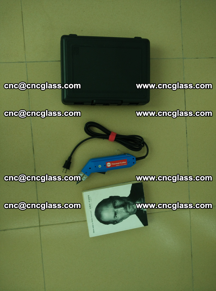 Thermal Knife trimmer for laminated glass edges cleaning (35)