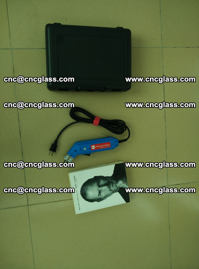 Thermal Knife trimmer for laminated glass edges cleaning (37)
