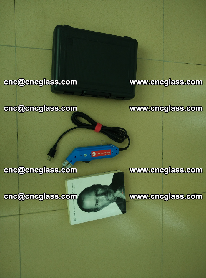 Thermal Knife trimmer for laminated glass edges cleaning (40)