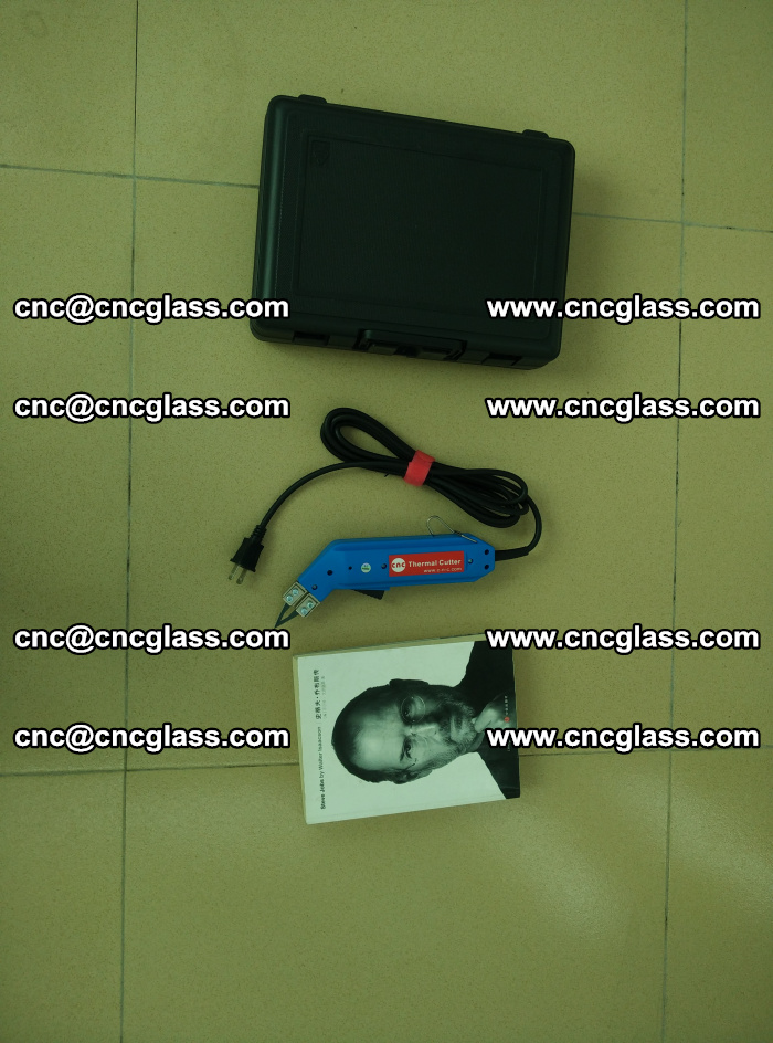 Thermal Knife trimmer for laminated glass edges cleaning (49)