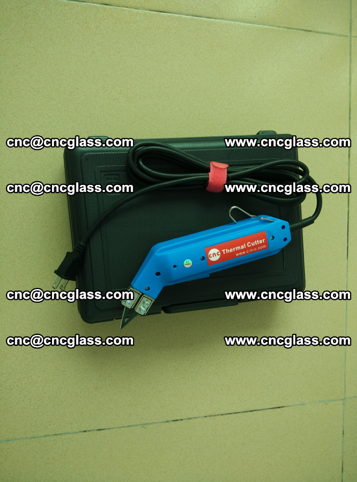 Thermal Knife trimmer for laminated glass edges cleaning (8)