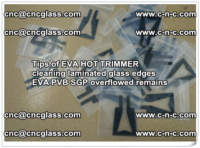 Tips of EVA HOT TRIMMER cleaning laminated glass edges  (31)