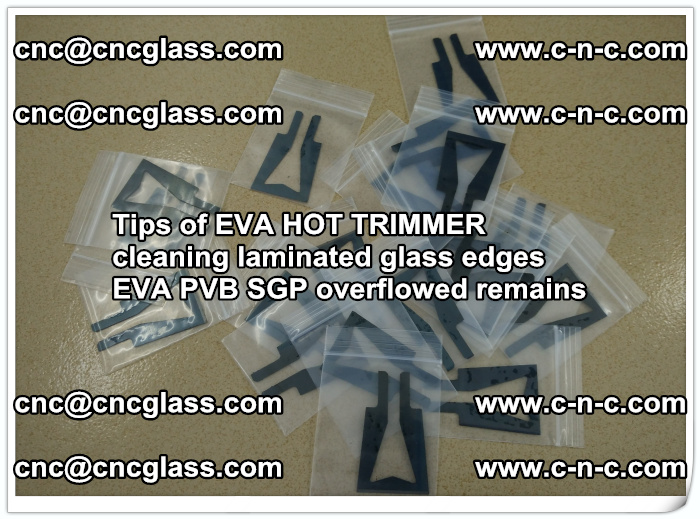 Tips of EVA HOT TRIMMER cleaning laminated glass edges  (32)
