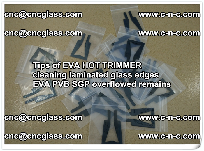Tips of EVA HOT TRIMMER cleaning laminated glass edges  (33)