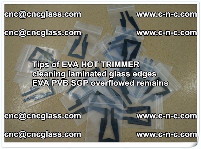 Tips of EVA HOT TRIMMER cleaning laminated glass edges  (34)