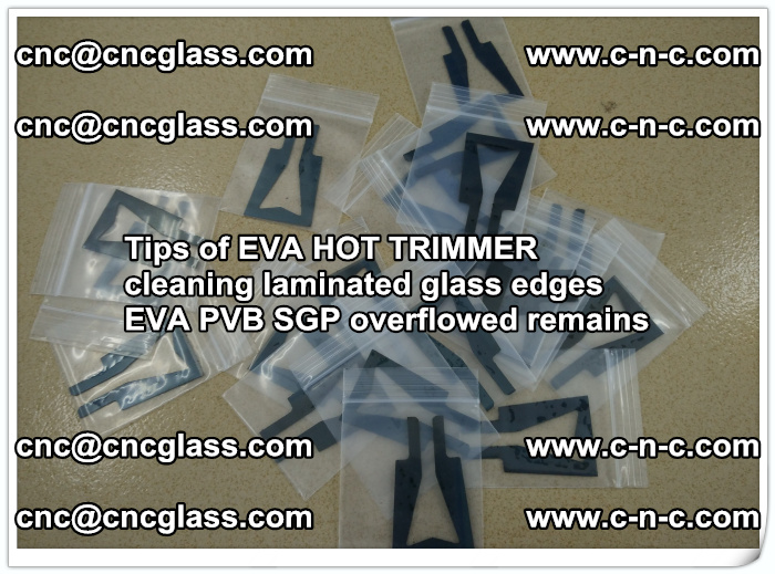 Tips of EVA HOT TRIMMER cleaning laminated glass edges  (40)