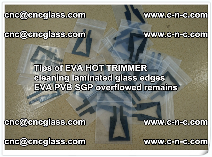 Tips of EVA HOT TRIMMER cleaning laminated glass edges  (43)