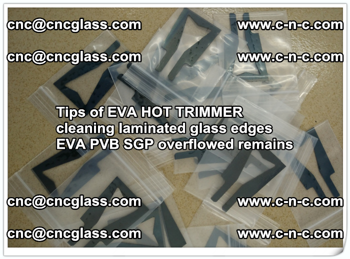 Tips of EVA HOT TRIMMER cleaning laminated glass edges  (58)