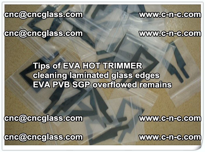 Tips of EVA HOT TRIMMER cleaning laminated glass edges  (60)