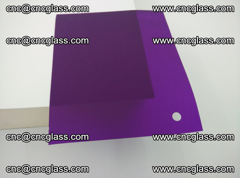 Eva glass laminating interlayer film foil (transparent purple color) (1)