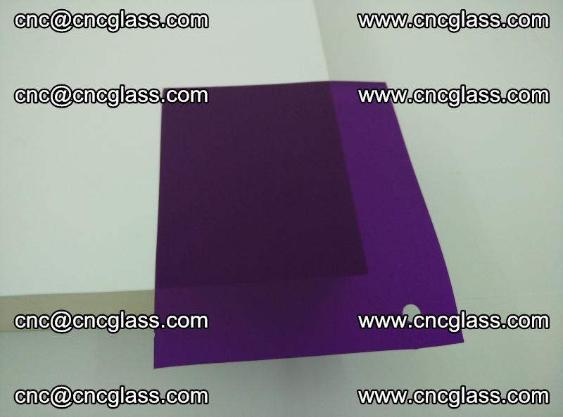 Eva glass laminating interlayer film foil (transparent purple color) (10)