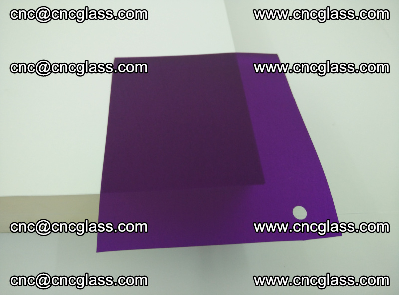 Eva glass laminating interlayer film foil (transparent purple color) (12)