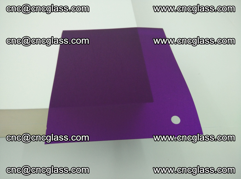 Eva glass laminating interlayer film foil (transparent purple color) (15)