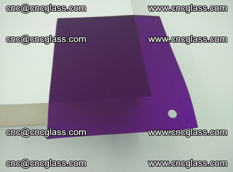 Eva glass laminating interlayer film foil (transparent purple color) (18)