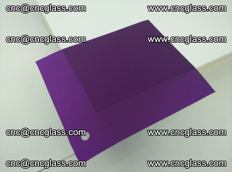 Eva glass laminating interlayer film foil (transparent purple color) (2)