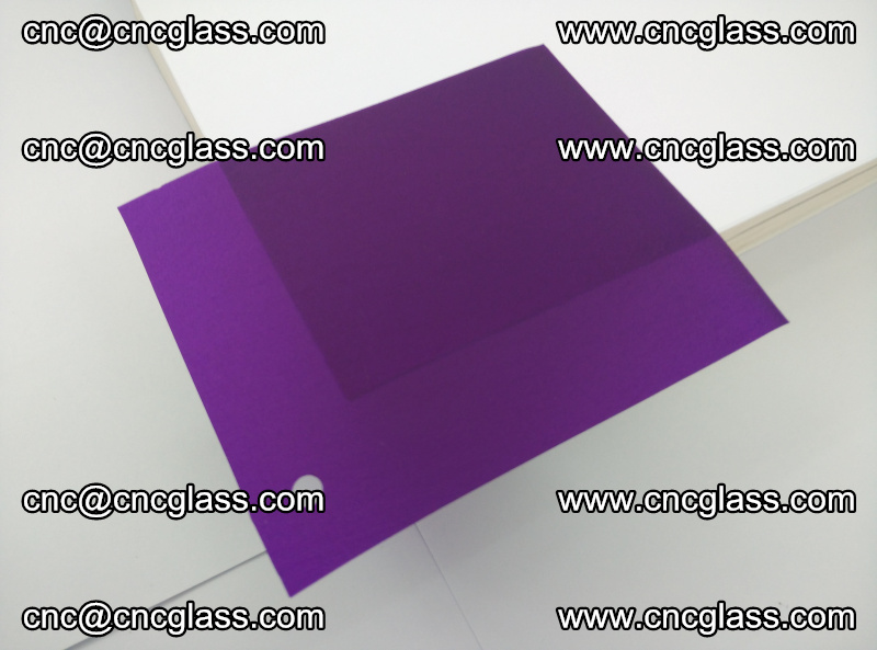 Eva glass laminating interlayer film foil (transparent purple color) (5)