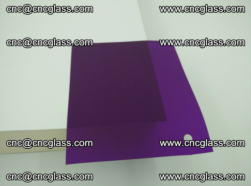 Eva glass laminating interlayer film foil (transparent purple color) (7)