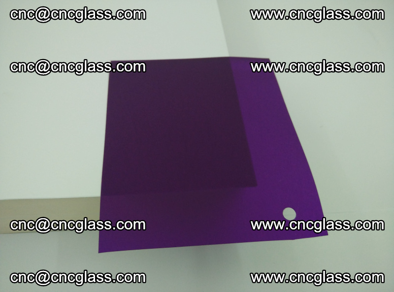 Eva glass laminating interlayer film foil (transparent purple color) (8)