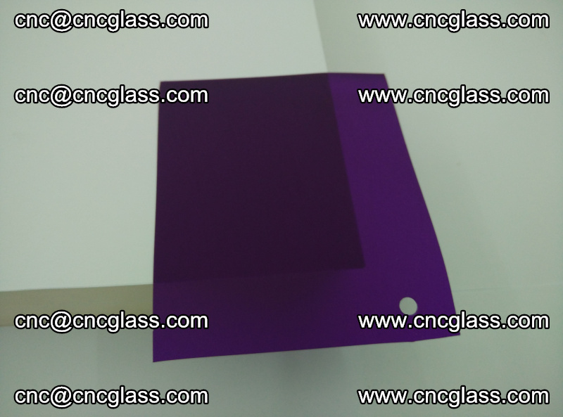 Eva glass laminating interlayer film foil (transparent purple color) (9)