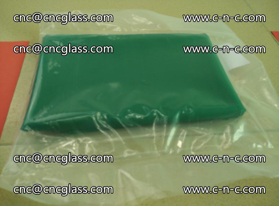 EVA glass interlayer film transparent color green (8)