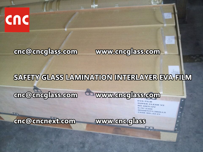 SAFETY GLASS LAMINATION INTERLAYER EVA FILM PACKING LOADING (10)