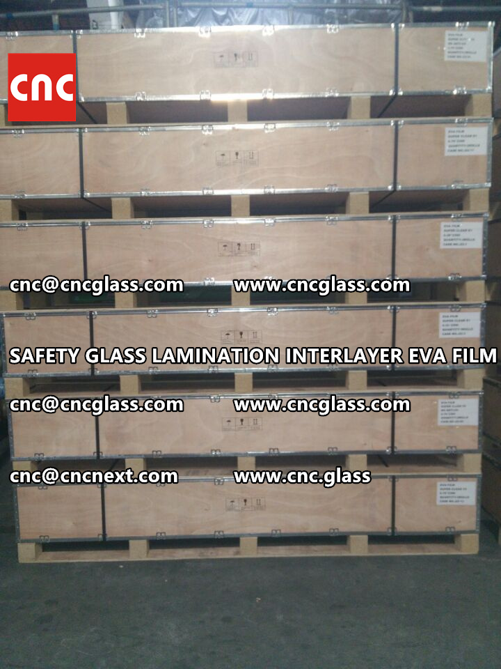 SAFETY GLASS LAMINATION INTERLAYER EVA FILM PACKING LOADING (14)