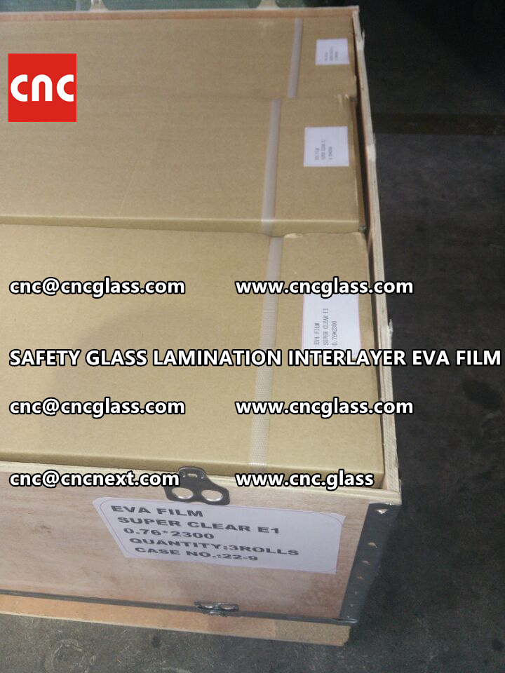 SAFETY GLASS LAMINATION INTERLAYER EVA FILM PACKING LOADING (15)