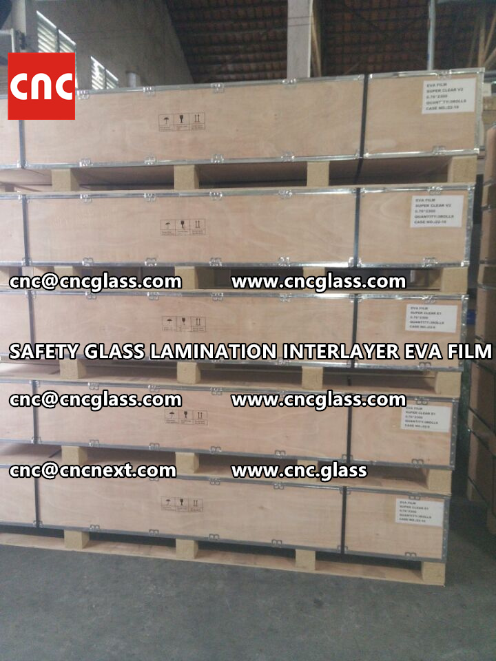 SAFETY GLASS LAMINATION INTERLAYER EVA FILM PACKING LOADING (17)