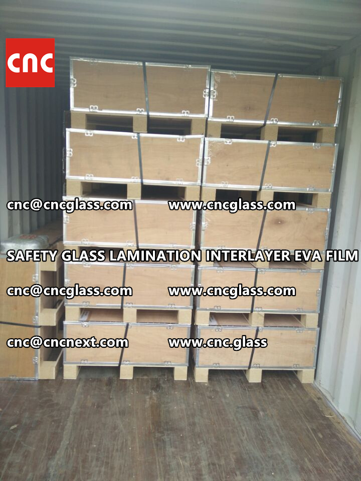 SAFETY GLASS LAMINATION INTERLAYER EVA FILM PACKING LOADING (30)