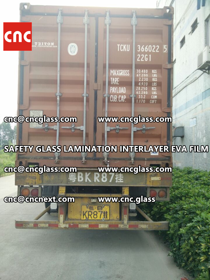 SAFETY GLASS LAMINATION INTERLAYER EVA FILM PACKING LOADING (31)