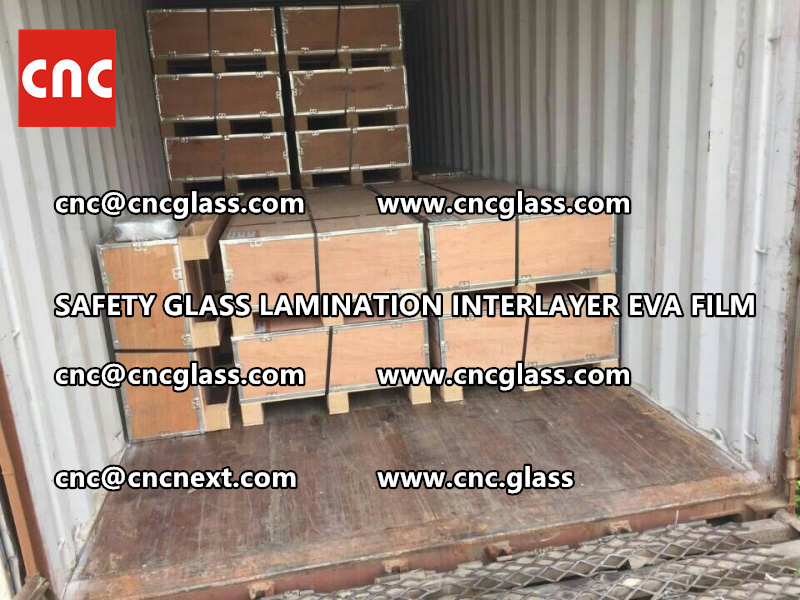 SAFETY GLASS LAMINATION INTERLAYER EVA FILM PACKING LOADING (32)