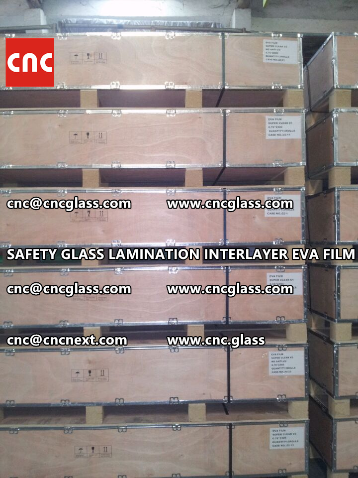 SAFETY GLASS LAMINATION INTERLAYER EVA FILM PACKING LOADING (9)
