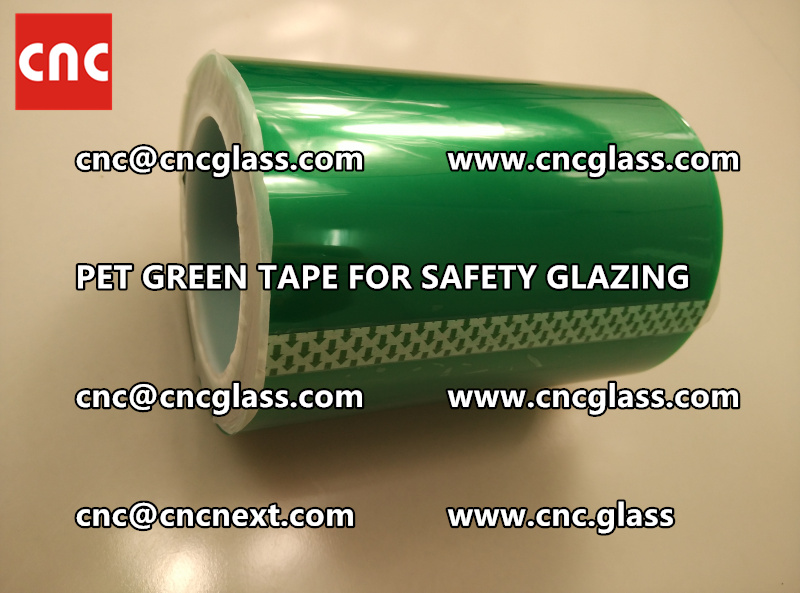 SILICONE GREEN TAPE for safety glazing lamination (1)
